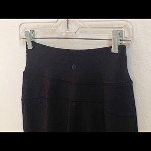 Lululemon black wide leg crop pants